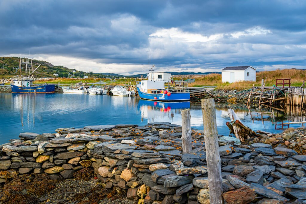 A cove in Ferryland, Newfoundland and Labrador.