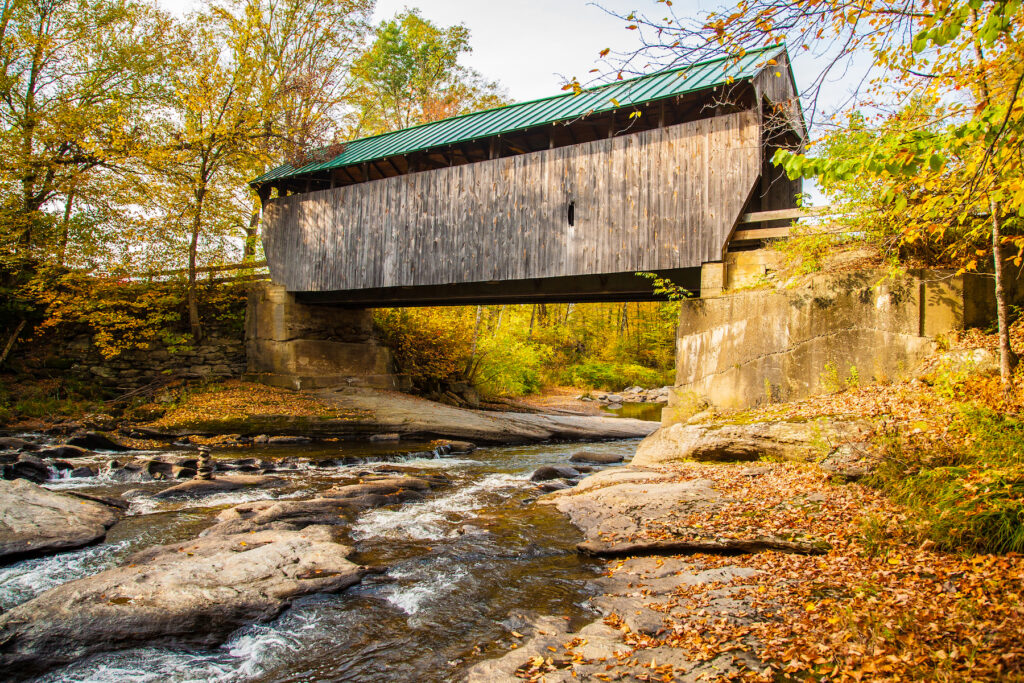 A covered bridge in Montgomery, Vermont.