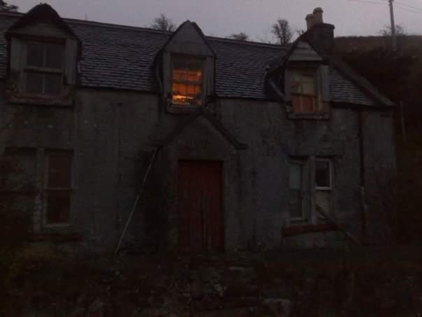 A creepy old house in Uig.