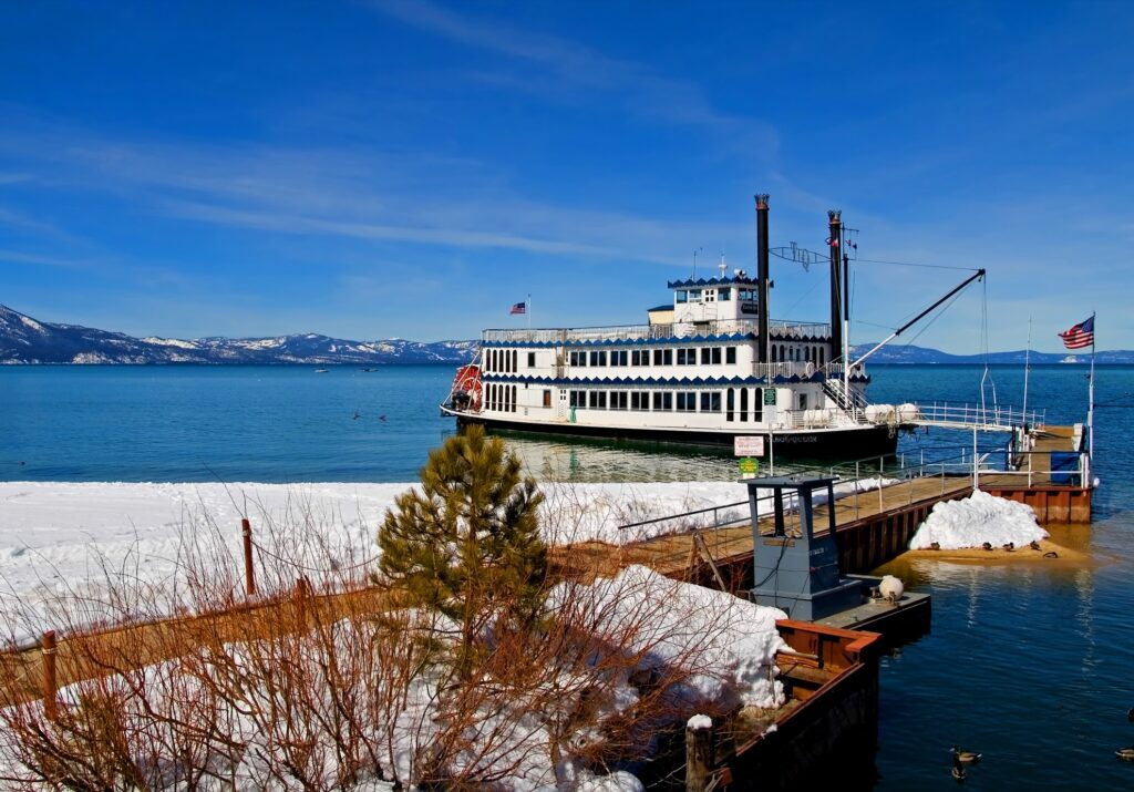 A cruise boat on Lake Tahoe.
