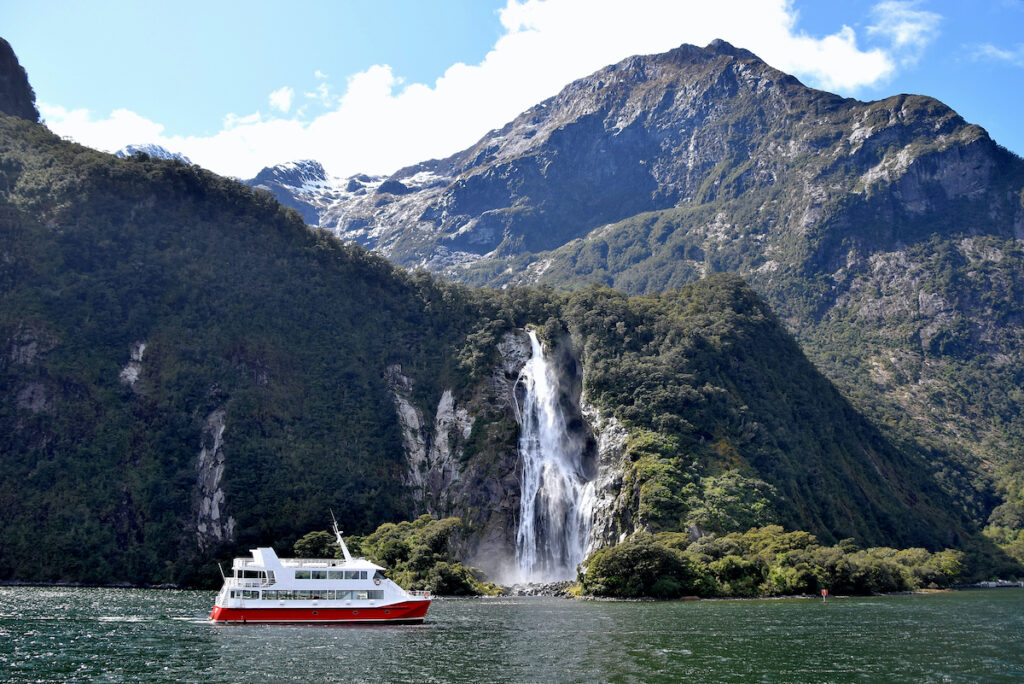 A cruise in New Zealand.