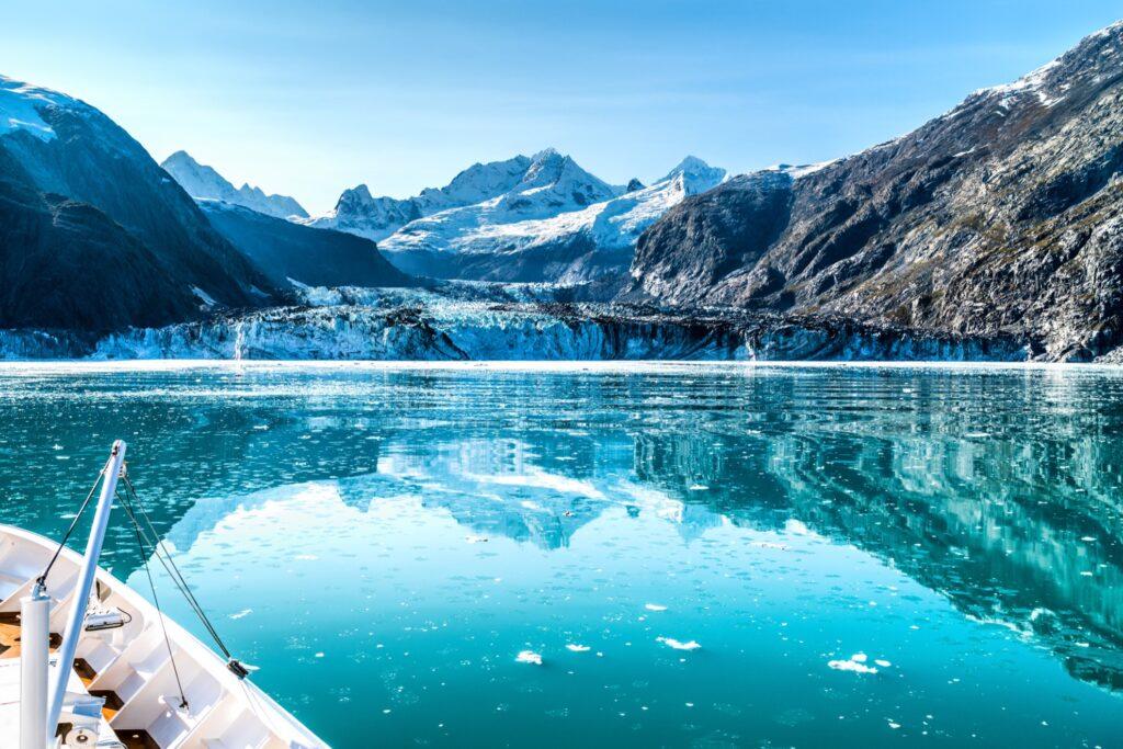 A cruise ship in Alaska's Glacier Bay.
