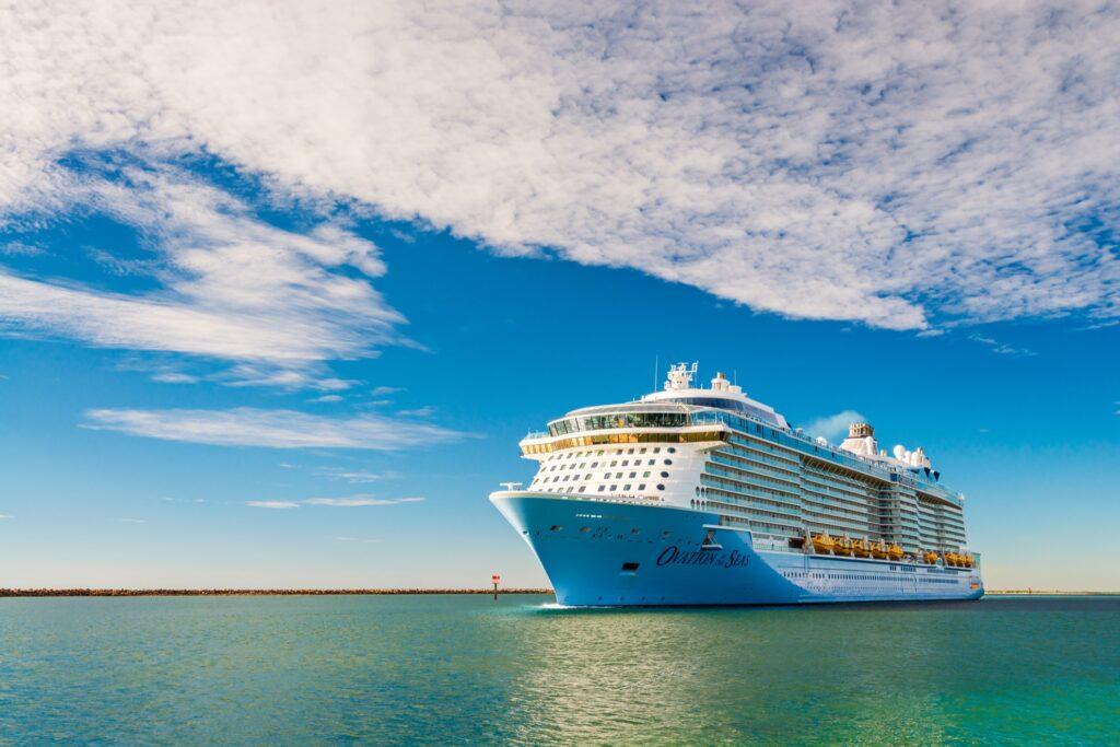 A cruise ship off the coast of Australia.