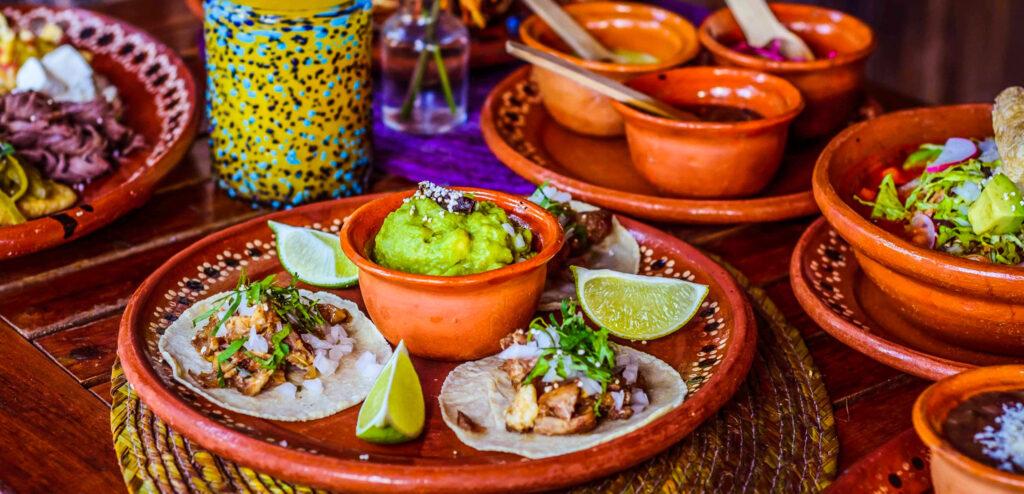 A delicious Mexican dinner at La Perla Pixan in Riviera Maya.