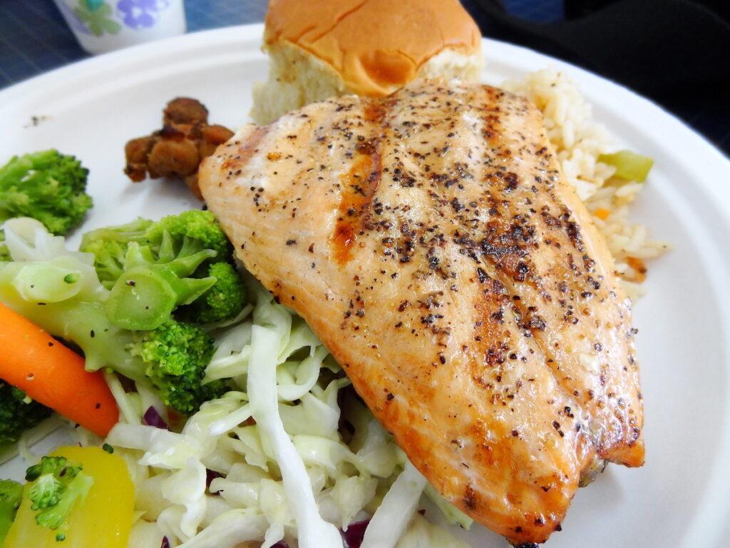 A delicious salmon bake in Juneau, Alaska.