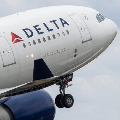 A Delta airplane.