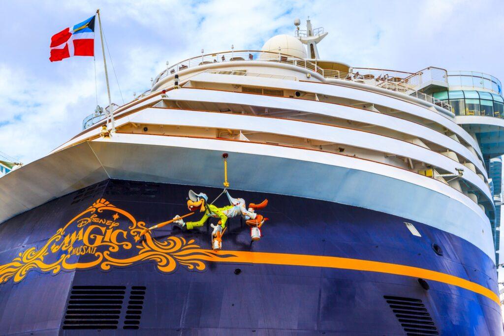 A Disney cruise ship.