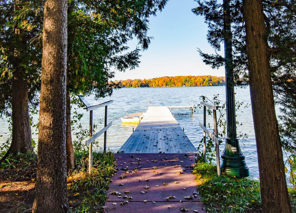 A dock along Elkhart Lake.
