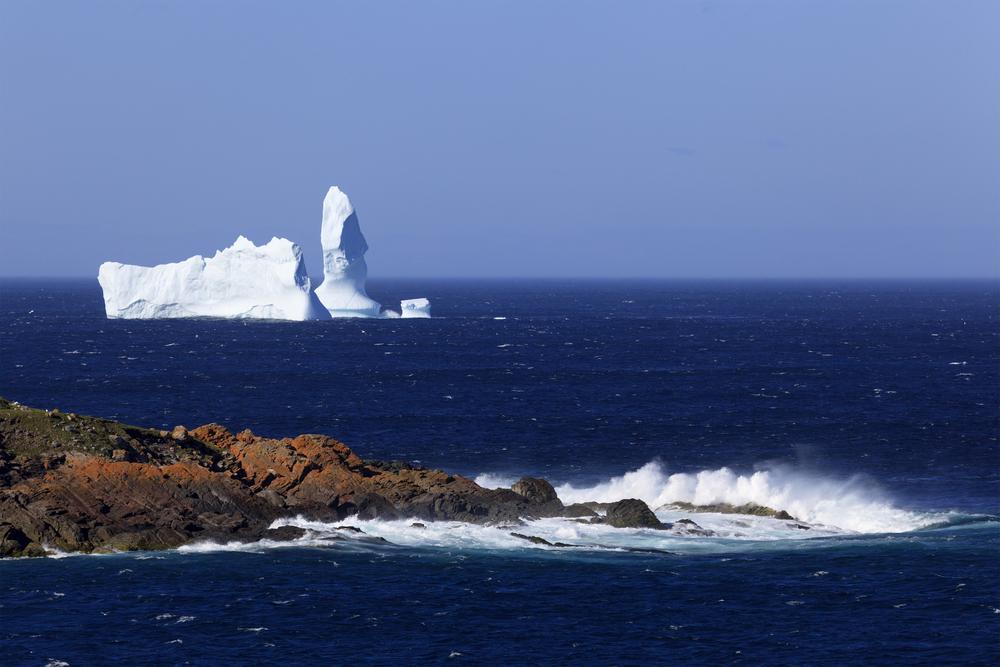 A drifting iceberg near Newfoundland in Canada.