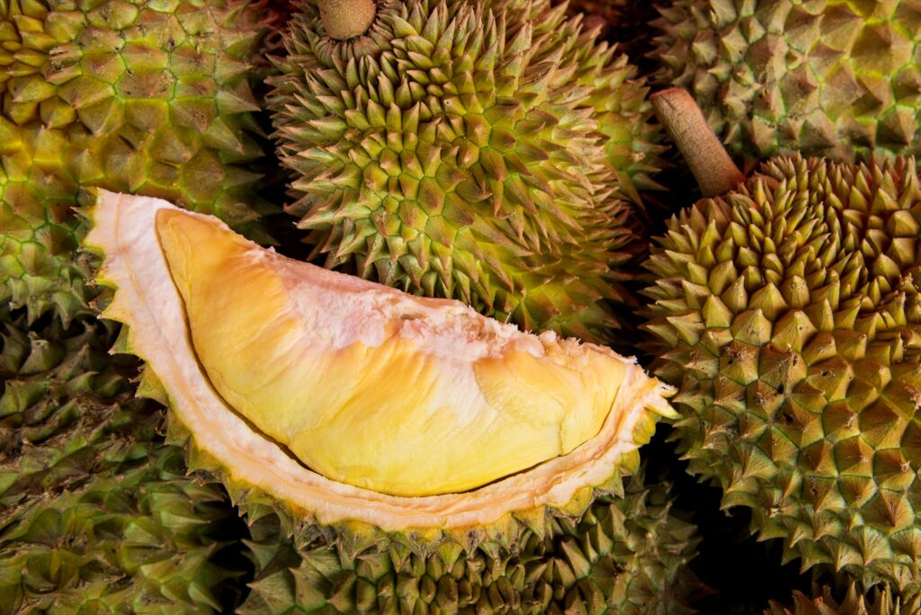 A durian fruit from Thailand.