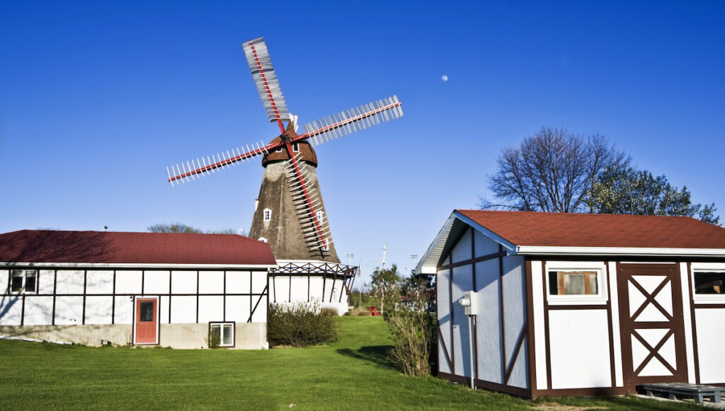 A Dutch windmill in Elk Horn, Iowa.