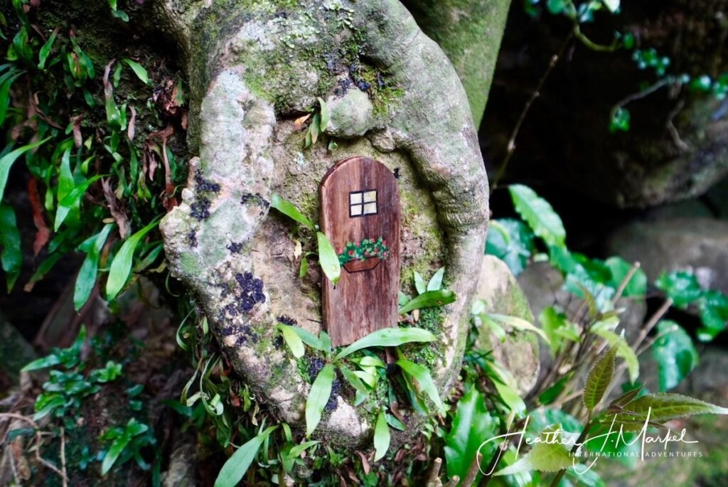 A fairy door on a rock at the Wairere Boulders in New Zealand.