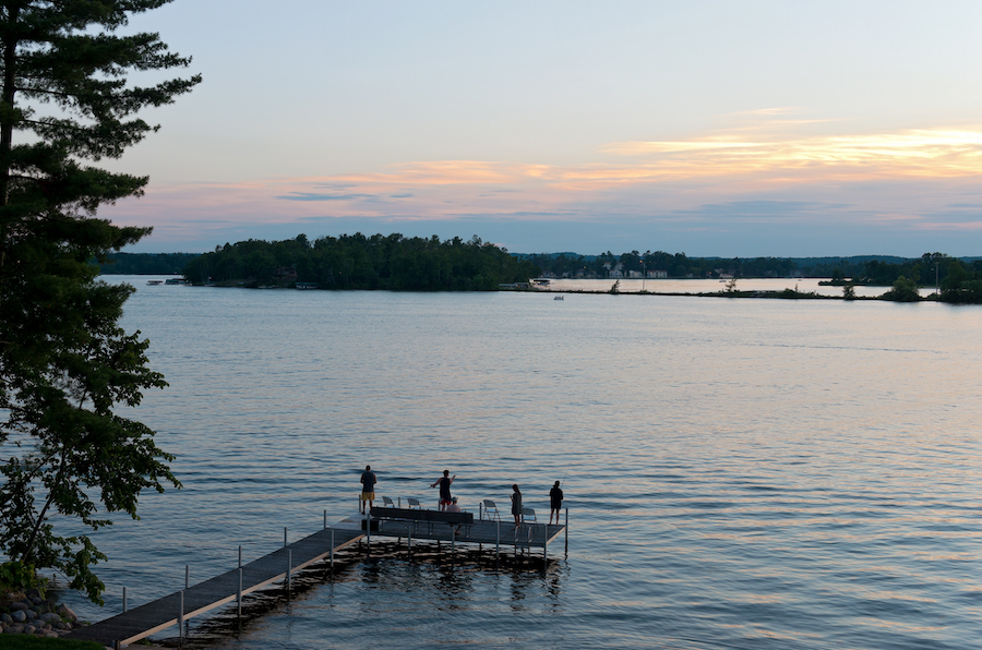 A family fishing in Brainerd, Minnesota.