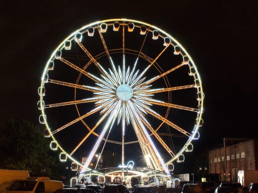 A ferris wheel in Poland.