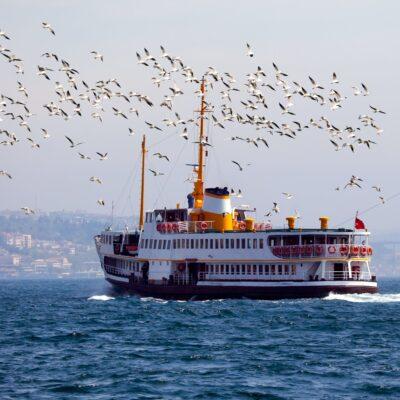 A ferry in Istanbul, Turkey.