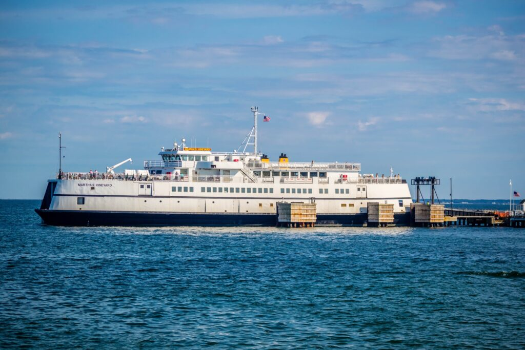 A ferry on its way to Martha's Vineyard.