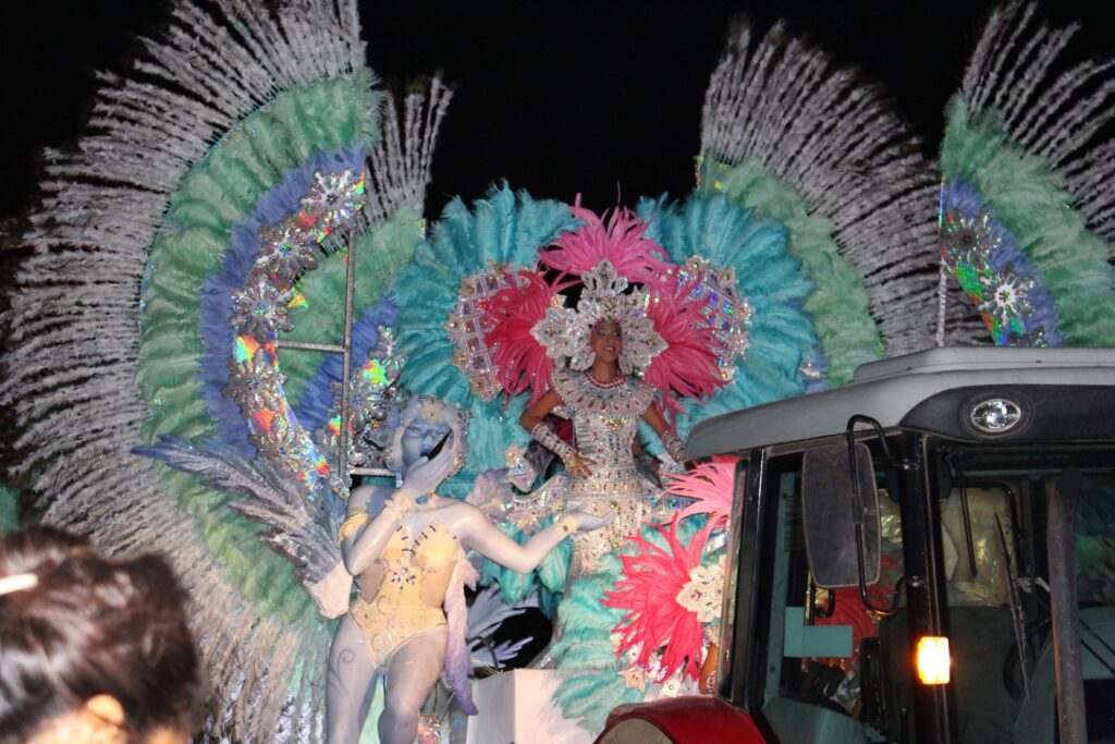A festive float during Panama's Carnival.