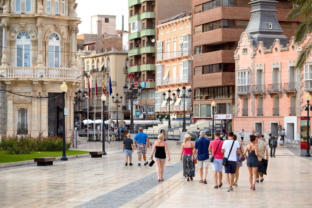 A few tourists in Cartagena, Spain.