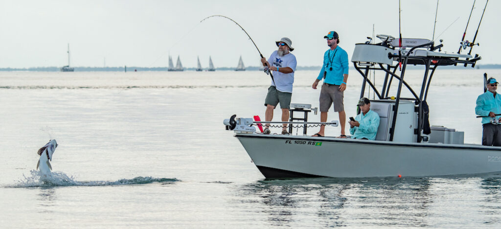 A fishing charter off the coast of Florida's Pine Island.