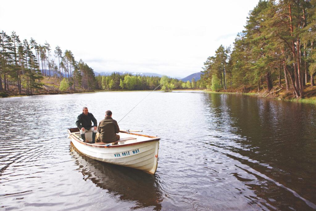 A fishing excursion during a Belmond Royal Scotsman trip.