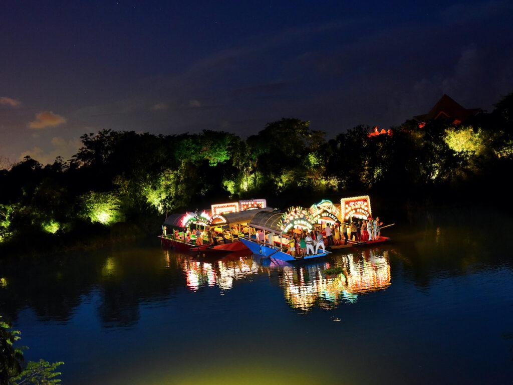 A floating fiesta at Xoximilco in Mexico.