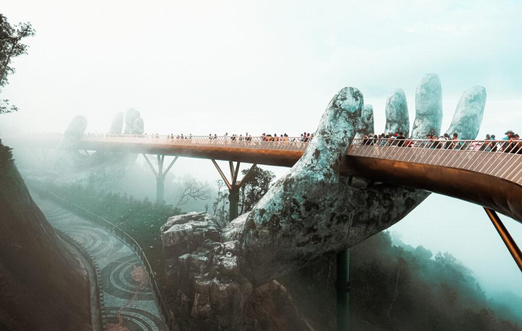 A foggy morning at Golden Bridge.