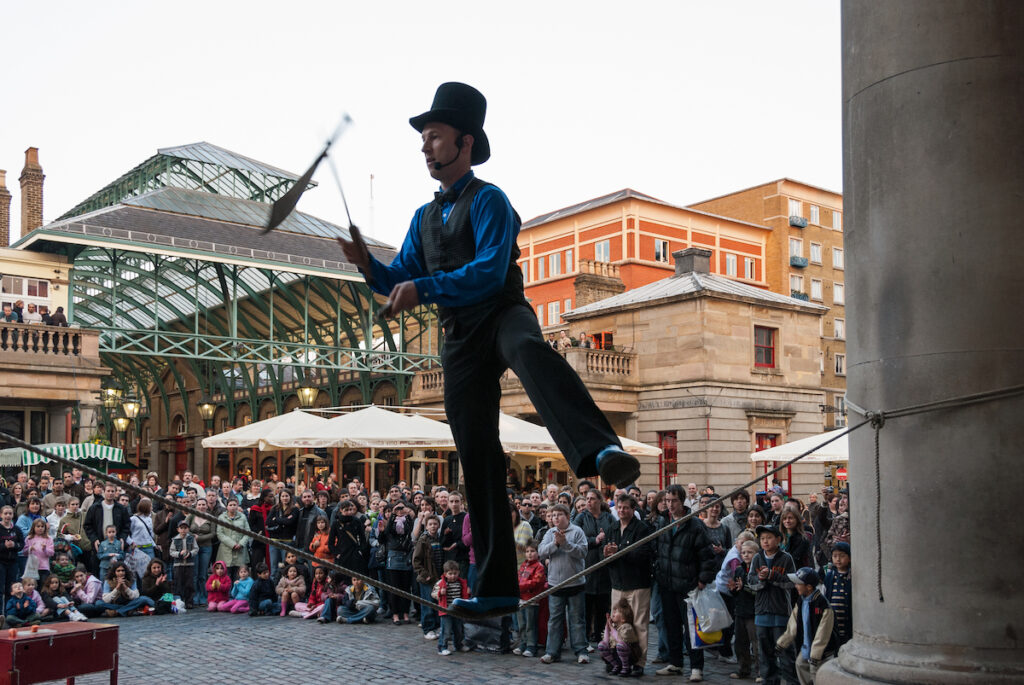 A free street performance at Covent Garden.