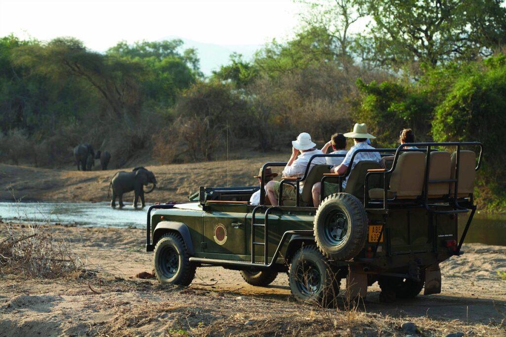 A game drive via Royal Zambezi Lodge.