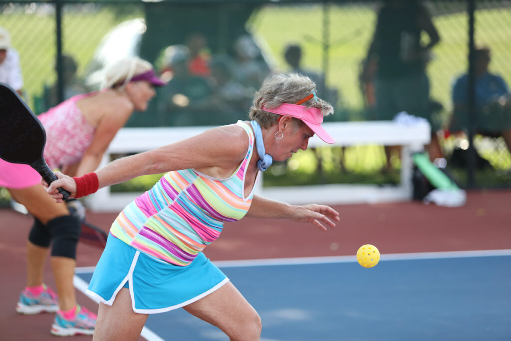 A game of pickleball.