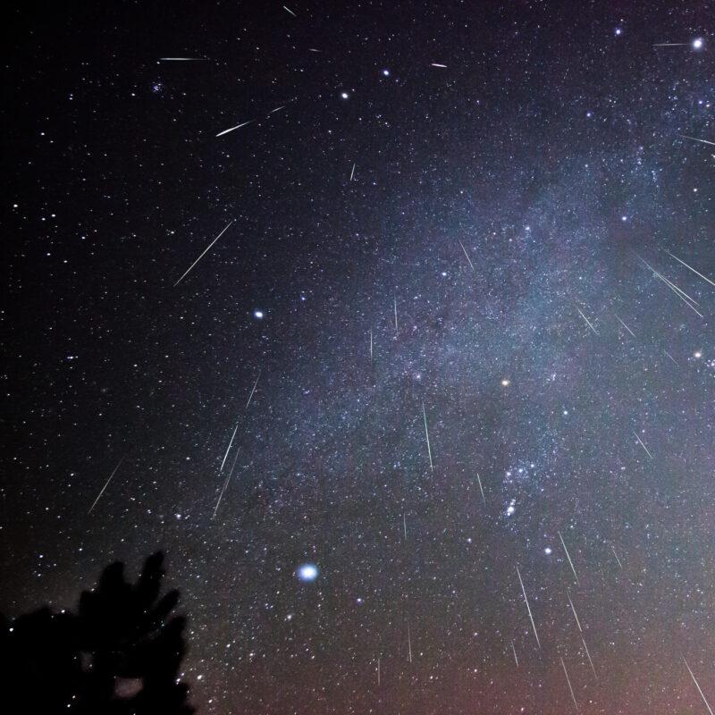 A Geminid meteor shower over Virginia.