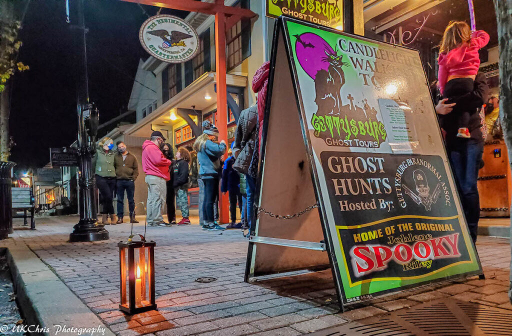 A ghost tour in downtown Gettysburg, Pennsylvaina.