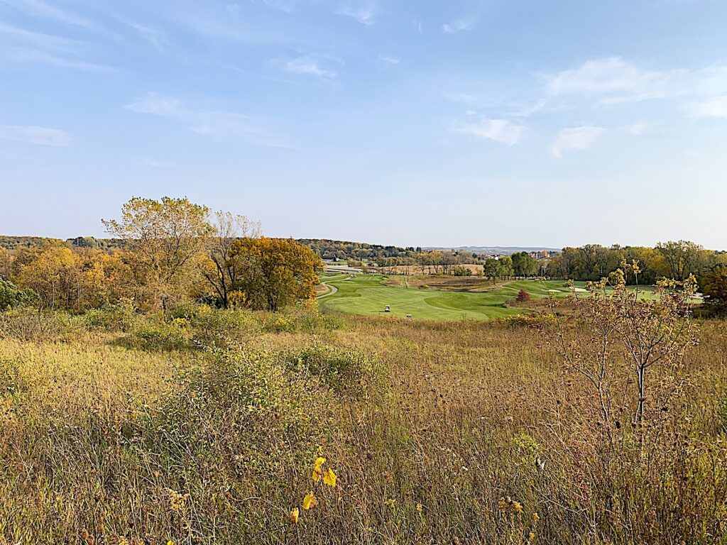 A golf course along the Ice Age Trail in Wisconsin.