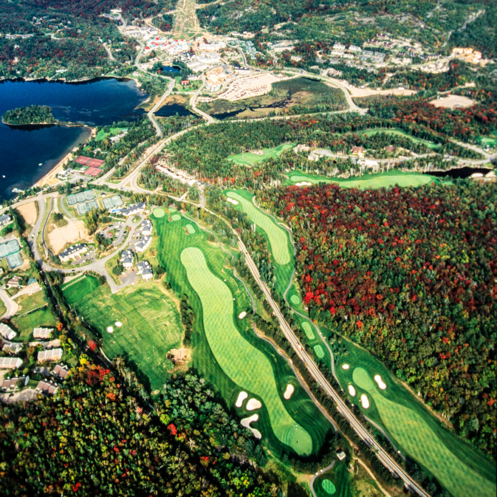 A golf course in Mont-Tremblant, Quebec.