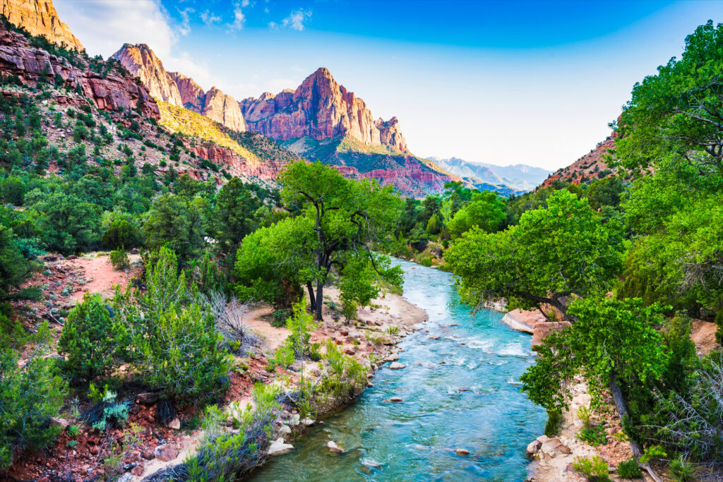 A gorgeous view at Zion National Park.