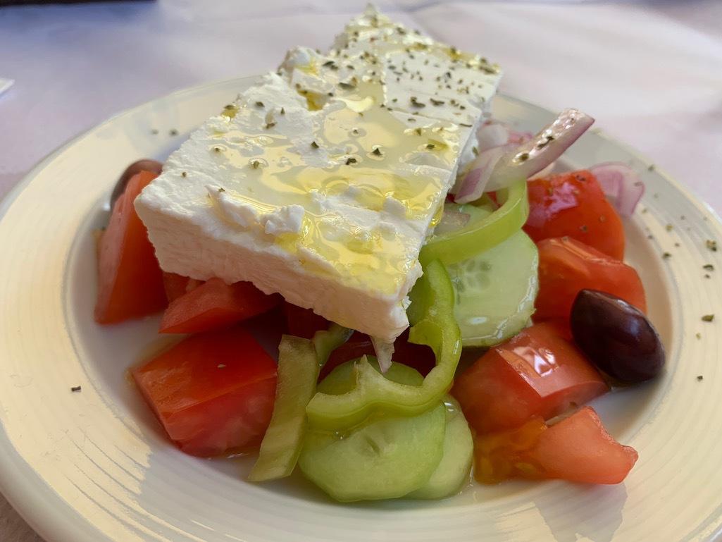A Greek salad in Delphi.