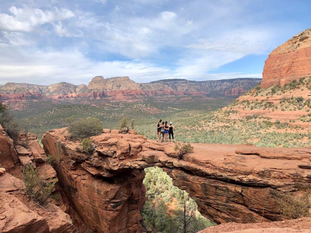 A group photo on the Devil's Bridge.