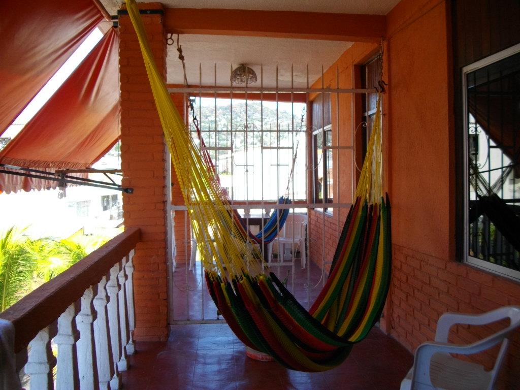 A hammock at an Airbnb.