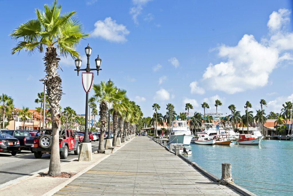 A harbor in Aruba.