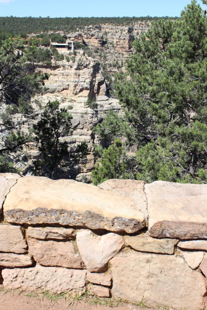 A heart-shaped rock at the Grand Canyon.