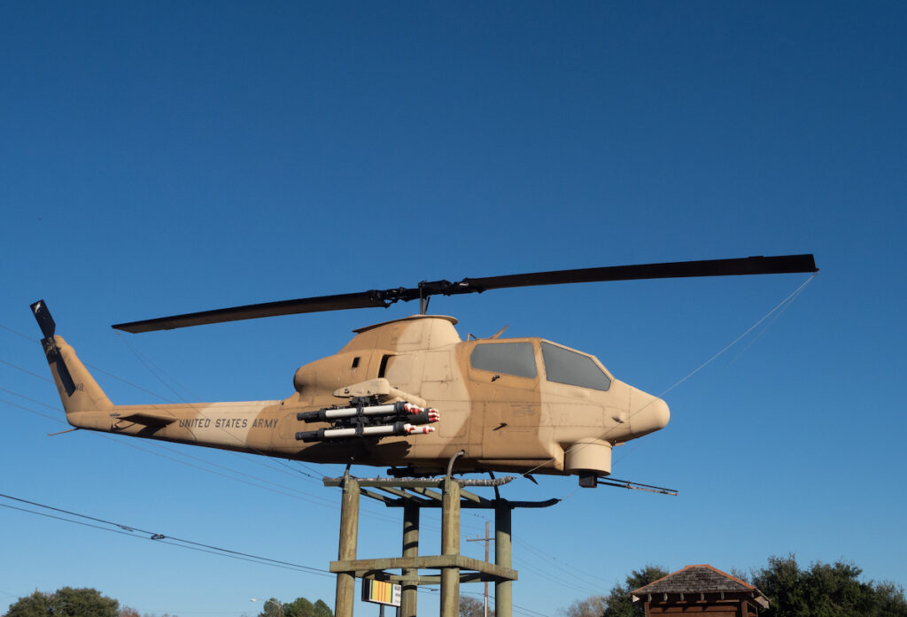 A helicopter at the HEARTS Veterans Museum of Texas.