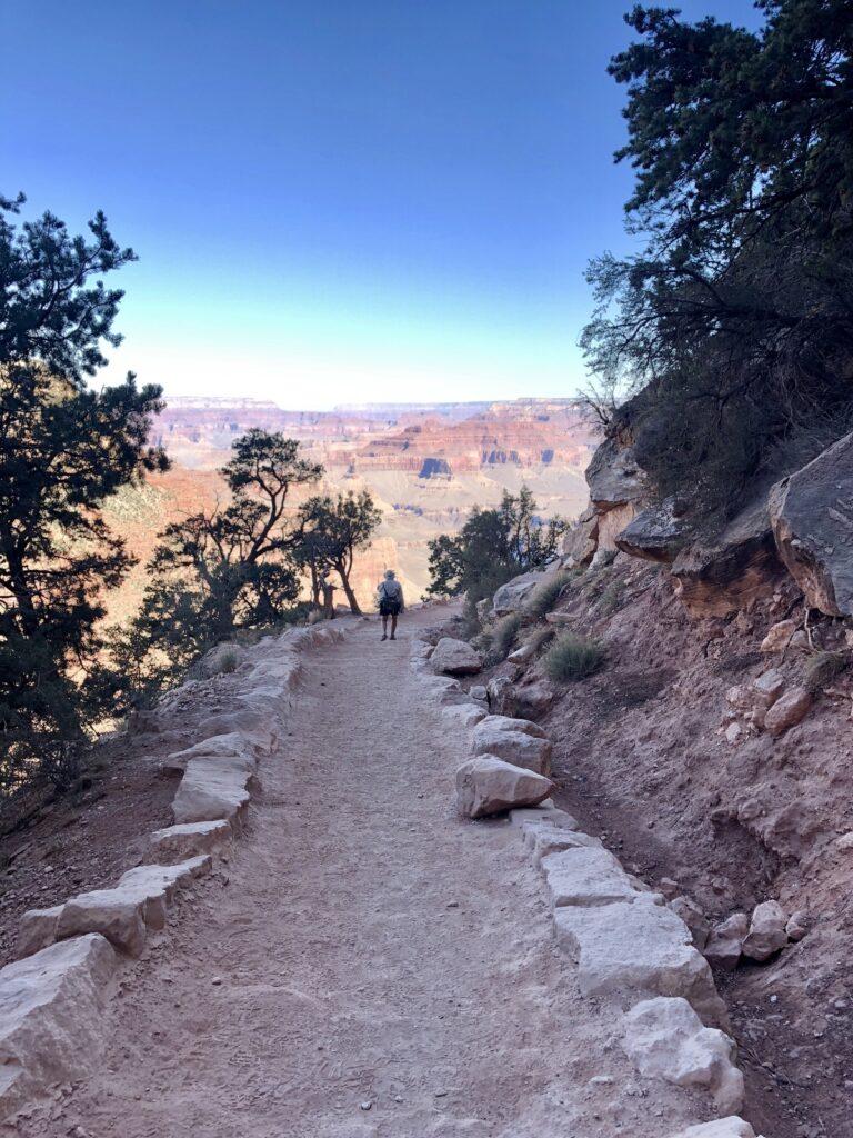 A hike through the Grand Canyon in Arizona.