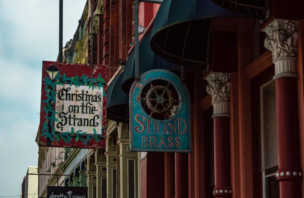 A historic Christmas shop in Galveston, Texas.