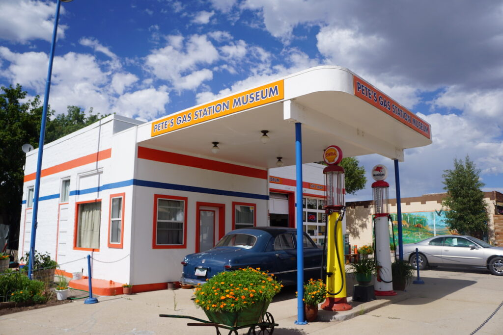 A historic gas station museum in Williams, Arizona.