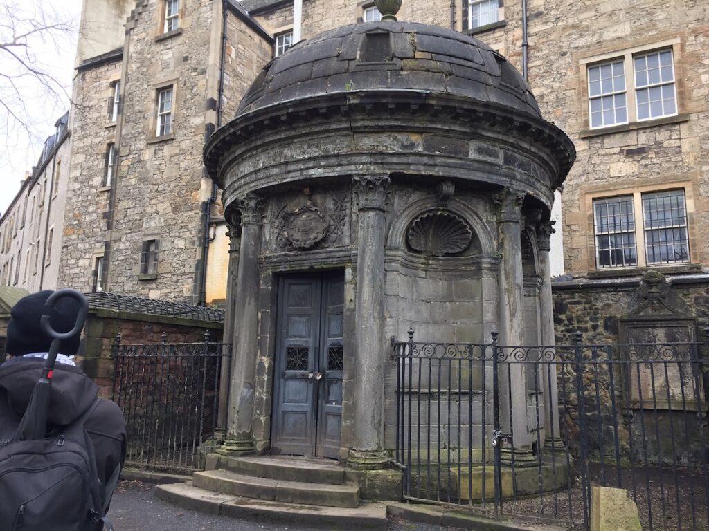 A historic mausoleum in Edinburgh.