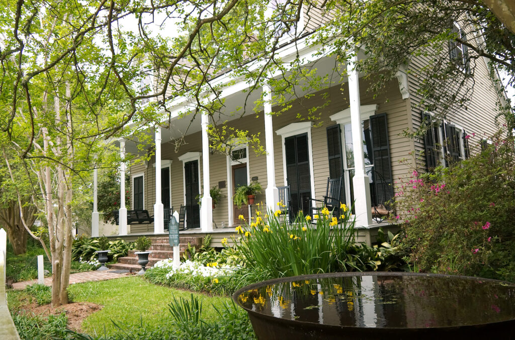 A historic plantation home in Saint Francisville.