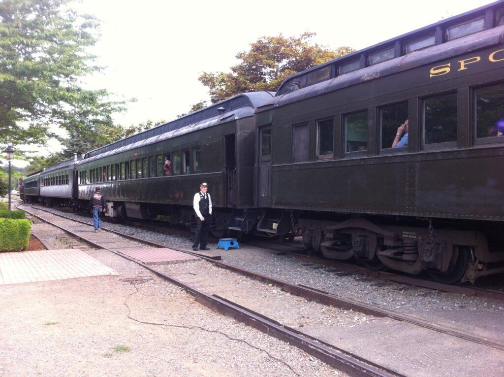 A historic train in Snoqualmie, Washington.