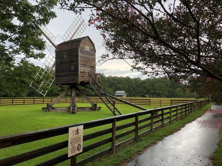 A historic windmill at the Island History Farm in Manteo.