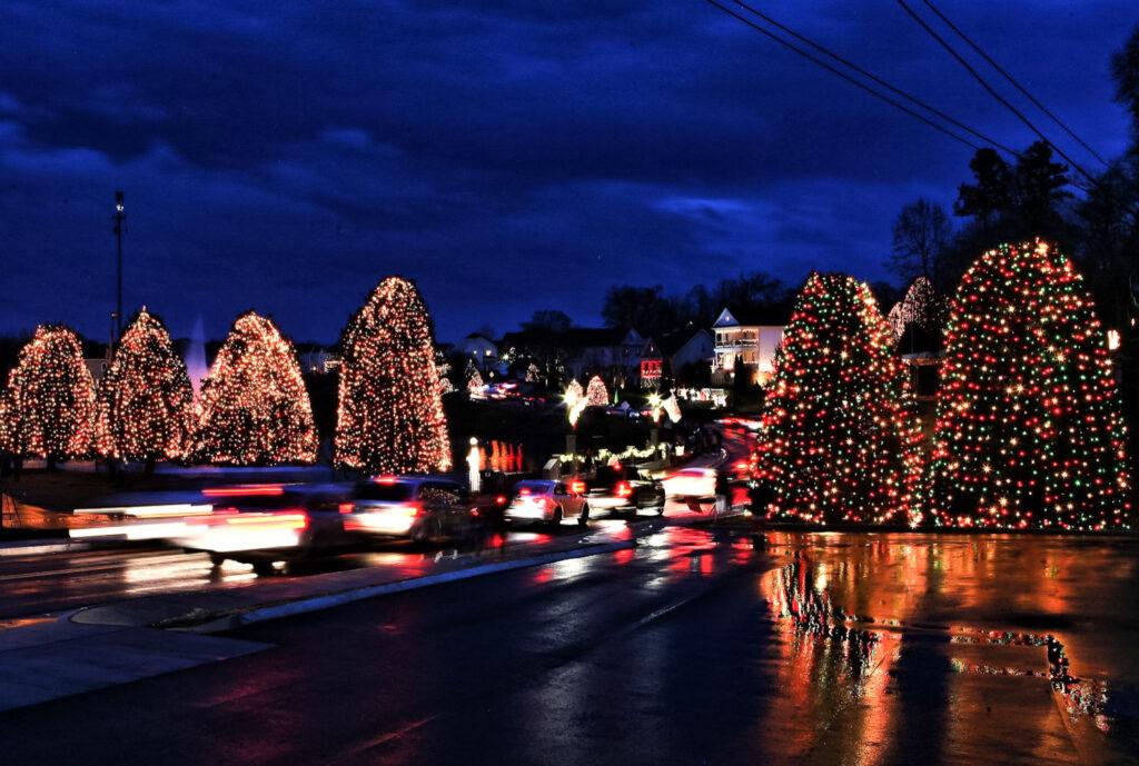 A holiday lights display in McAdenville, North Carolina.