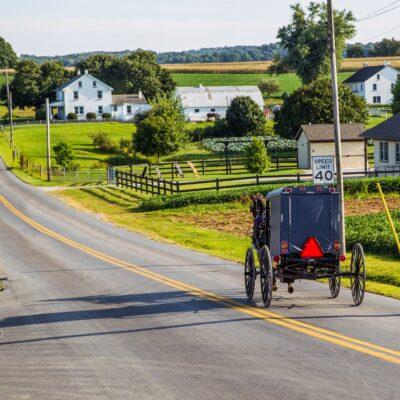A horse and buggy ride through Lancaster, Pennsylvania.