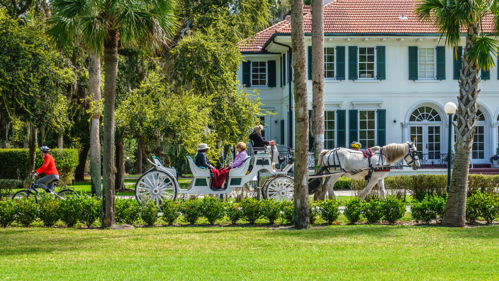 A horse-drawn carriage on Jekyll Island, Georgia.